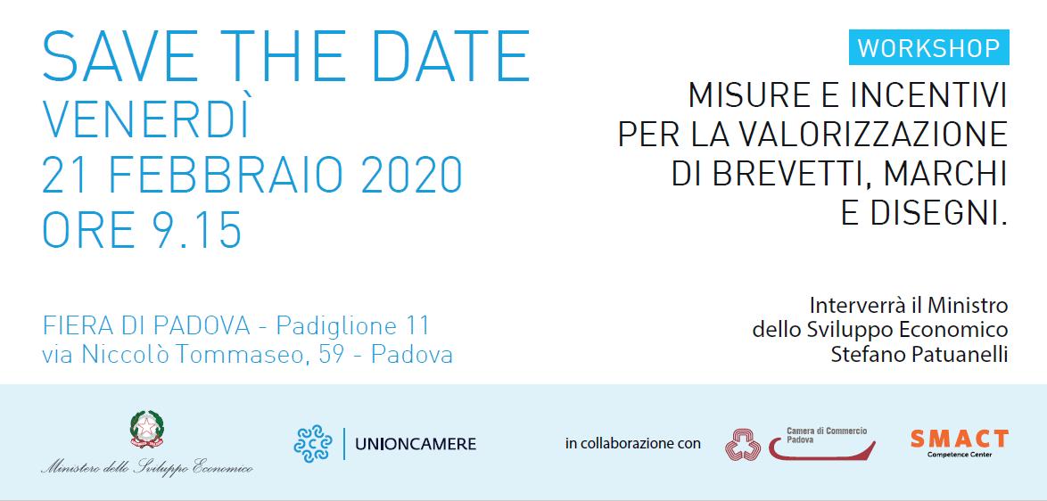 Workshop: MISURE E INCENTIVI PER LA VALORIZZAZIONE 21feb20_Workshop_Brevetti_5364_1.png (Art. corrente, Pag. 1, Foto logo)